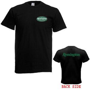 Remington Logo Guns Firearms Men's Black T-Shirt Size S - 5XL