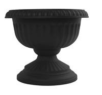 Bloem 12-Inch Grecian Urn Planter, Black, New Open Box