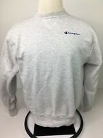Champion VTG Men's Embroidered Grey Crew Neck Sweatshirt Size Large USA Made