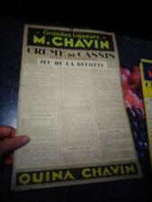 Ancien Carton Publicitaire Bistrot Règle Jeu de Carte BELOTTE M Chavin Bourgoin