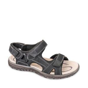 VALLEVERDE 54801 Sandalen Schuhe Trekking Leder Herren Tücken Schwarz