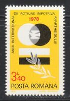 Romania 1978 MNH Mi 3555 Sc 2796 Anti-Apartheid Year