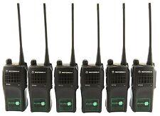 MOTOROLA GP320 UHF 4 W Talkie Walkie Two Way Radios & Covert Oreillette x 6