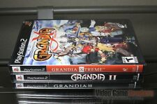 Grandia II 2, III 3 & Xtreme Game Set (PlayStation 2, PS2 2005) Y-FOLD SEALED!
