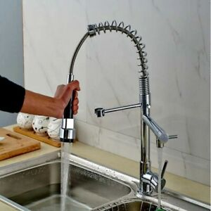 Kitchen Tap Pull Out Sprayer Sink Mixer Tap Single Lever Spring Kitchen Taps