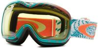 Oakley Stockholm Ski Snowboard Goggles Turquoise Orbit Yellow Lens 57 048 New UK