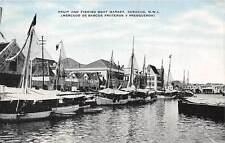 CURACAO, DWI ~ FRUIT & FISHING BOAT MARKET, KROPP PUB ~ used 1945
