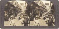 Scena Da Rue Cairo Egitto Stereo Stereoview Vintage Analogica