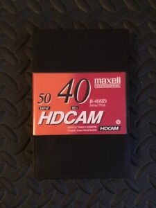 Maxell B-40HD HDCAM Video Tape, Small, 40 Minute (Bundles of 5)