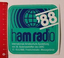 Aufkleber/Sticker: ham radio 88 Amateurfunk-Ausstellung Friedrichshafen 07041744