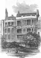 LONDON. Residence of the late Mr. Rogers, 22, St. James's Place-Park front, 1855