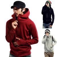 Men Casual Zip Hoodie Hoodies Hooded Sweatshirt Coat Jacket Outwear Sweater