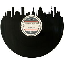 Baltimore Skyline Vinyl Record Art