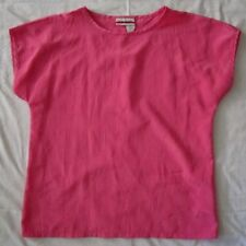 JUDY BOND Pink Boho Rockabilly Retro Mod Comfort Loose Blouse Tunic Shirt Top 8