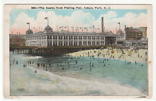 Casino from Fishing Pier Asbury Park New Jersey 1920s postcard