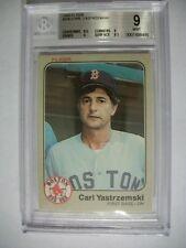 CARL YASTRZEMSKI 1983 Fleer #200 BGS MINT 9 Red Sox