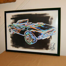 Hot Wheels 1967 Camaro Convertible Chevy Car Racing Poster Print Wall Art 18x24