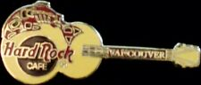 Hard Rock Cafe VANCOUVER 1997 Red SALMON on Yellow GUITAR PIN HRC Catalog #10308