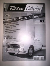 RETRO COLLECTION MAGAZINE N°3 1997 DOSSIER ROULER EN 403 CABRIOLET