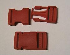 Steckschnalle-Klickverschluss 2 Stück für 25mm Gurtbreite Kunststoff Rot