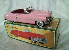 Tin Friction  1950  PINK CADILLAC  diecast car  burgundy interior