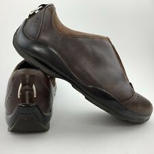 Ariat Brown Leather Front Zipper Shoes Stable Cushioned Women's 7 B