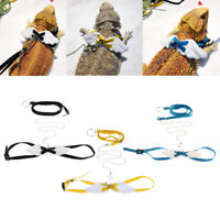 Soft Adjustable Angel  Lizard Leash Harness Type Lead Strap for Pet Reptile