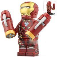 Iron Man Downey Avengers Marvel Endgame Tony Stark Custom Lego Mini Figure Toy