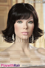 Full Flippy Flicks Wig Brown Black