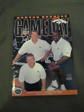 2001 Denver Broncos vs. Kansas City Chiefs Program Deltha O'Neal 4 INT game