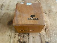 Used - Wood Box COHIBA Caja Madera - 13,3 x 13,3 x 13,5 cm - EMPTY VACIA