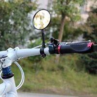 1X Bike Bicycle Rearview Mirror Handlebar Flexible Rear Back View Mirror Black