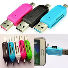 USB Flash Drive 2-in-1 OTG SD HOT Micro SD Card Reader For PC Samsung Adapter
