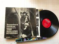 THE ROLLING STONES DECEMBER'S CHILDREN MONO lp ll345 red label vinyl london box!