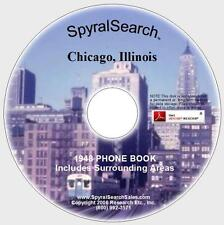 IL - Chicago 1948 Phone Book CD Text Searchable!
