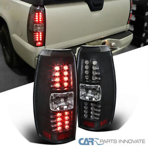 For 07-12 Chevy Avalanche Matte Black LED Tail Lights Rear Brake Signal Lamps