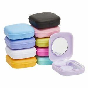 10 Pack Travel Contact Lens Case Mirror, Tweezers, Applicator, Solution Bottle