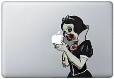 D121 Zombie Snow White Eating Apple Macbook Decal fits 13 inch