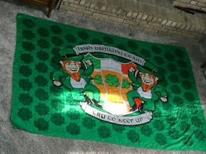"ST. PATRICK'S DAY 60""x86""Party Banner IRISH Leprechaun Drinking Team. Flag."