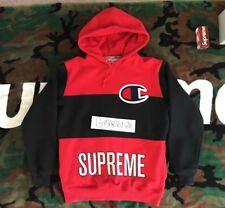 Supreme Champion Pullover red fw14 black red box logo cdg tnf rare