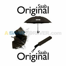 NEW GENUINE SAAB UMBRELLA BLACK SAAB LOGO SAAB ACCESSORY GIFT