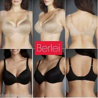 NEW BERLEI SO SMOOTH T-SHIRT TSHIRT UNDERWIRE GOLD BLACK BRA LADIES WOMENS BRAS
