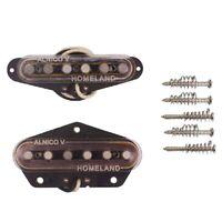 Homeland Alnico V Guitar Bridge Neck Set Magnetic Humbucker Pickup For Fen O9B4