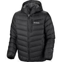 Columbia Men Winter Hooded OMNI-HEAT Down Jacket Coat 2XL XXL Black New  Ski