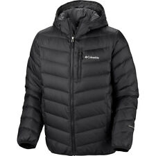 Columbia Men Winter Hooded OMNI-HEAT Down Jacket Coat L Black New  Ski