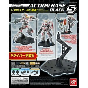 Bandai Gundam Action Base 5 Black Gunpla 1/144 Scale Display Stand USA Seller