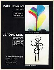 1978 Vintage Elaine Horwitch Galleries - Paul Jenkins & Jerome Kirk Art Print AD