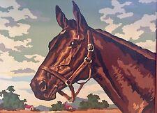 Quarter Horse Painting Oak Frame Vibrant Image