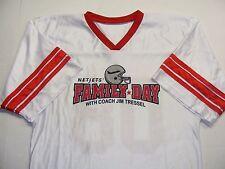 NET JETS FAMILY DAY FOOTBALL STYLE JERSEY #08 Jim Tressel SZ LG USA Made  EEUC