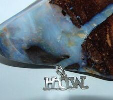 """Sterling Silver Alcoholics Anonymous AA Saying H.O.W. 11/16"""" Pendant Jewelry 287"""